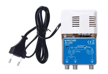 Alcad AI - 223 linkový zesilovač se 2 výstupy / G=25dB