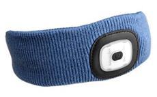 Čelenka s čelovkou, univerzální velikost, modrá SIXTOL