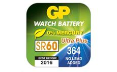 Knoflíková baterie do hodinek G1 GP 364F, SR60 AgO