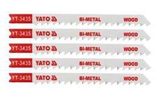 List pilový do přímočaré pily 100 mm na dřevo TPI6 5 ks Bi-Metal YT-3435