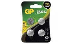Lithiová knoflíková baterie GP CR2032, 4ks --CENA BLISTR--