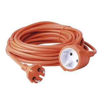 Prodlužovací kabel 10m 2x1mm dvoužílový oranžový