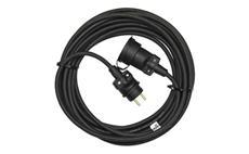 Prodlužovací kabel 10m 3x1,5mm černý gumový IP65
