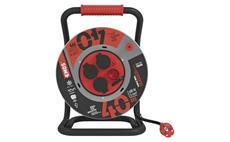 Prodlužovací kabel guma-neoprén na bubnu 40m / 3x2,5mm gumový / 4 zásuvky